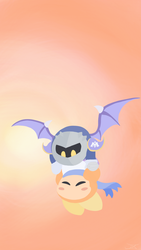 Meta knight and Sailor dee by MLPandPikachu