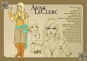 Character Sheet I: Anne by fee-absinthe