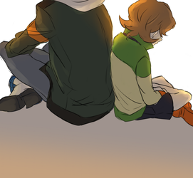 Voltron- Lance and Pidge by rainbox17