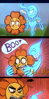 Cuphead - Scaredy Carnation by Atlas-White
