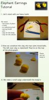 Elephant earring tutorial by Sandien