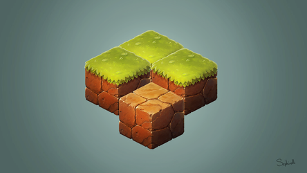Isometric Ground and Grass | Fan Art #6 by Sephiroth-Art