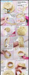 How To Make A Doll's Straw Boater Hat by VioletLeBeaux