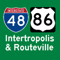 Intertropolis and Routeville logo by Interstate48