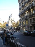 Young couple near the Sorbonne by mari6s