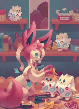 Eevee House - Sylveon by Pombei