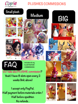 PLUSHIES COMMISSIONS open by Cipple