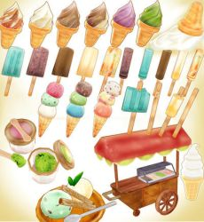 Summer Ice-cream pack + Vendor MMD model download by Hack-Girl