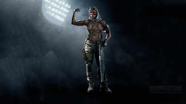 Valkyrie-R6-ExtendedTattoos-ByUnrealVision-NSFW by UnrealSimulation