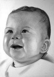 Baby portrait [Graphite] [commission] by TarcDnB