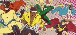 Bronze Age Defenders banner for Blastoff Comics by elena-casagrande