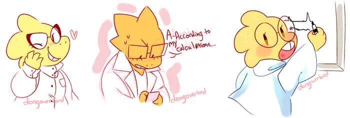 alphys doodles by dongoverlord