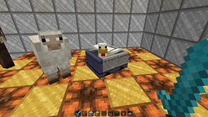 Chicken In A Minecart by Noulin123