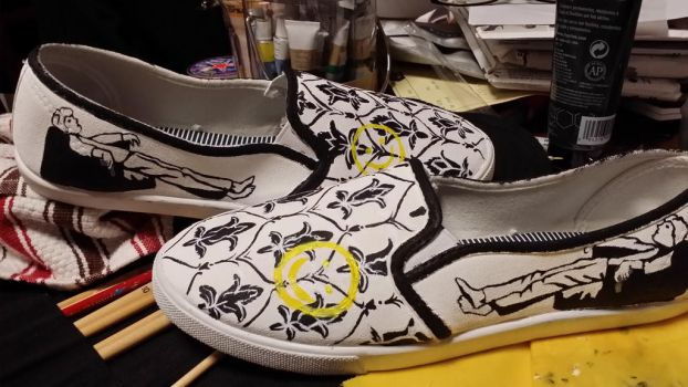 Sherlock Painted Canvas Shoes by SlinkyInk