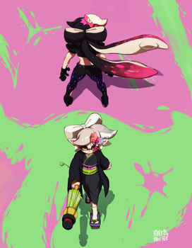 Squid sisters vs by MayzKen
