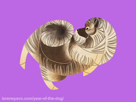 Year of the Dog - Keeshond by Kelgrid
