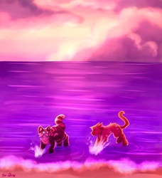 [Commission] cotton candy beach by ToxicDusk