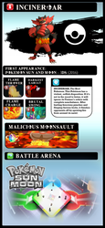 Super Smash Bros Move-Set Ideas #003: INCINEROAR by SMASH-THETIC