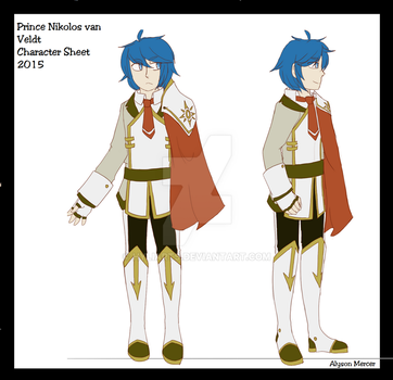 Prince Nikolos character sheet by HyliArts