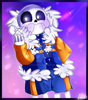 [OUTERTALE]Sans in the purple galaxy [Speedpaint] by Maspaz04