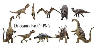 Dinosaurs Pack 01 - PNG by Susannehs