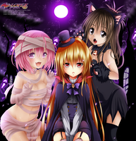 To Love Ru Collab Halloween Special by KuroNick-Arts