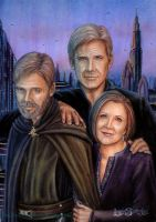 Older Star Wars Trio by leelastarsky