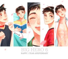 BH6 - Happy 1 Year Anniversary! by dailyguydoodle