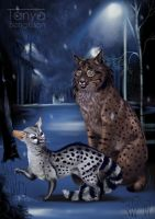 Genet and Iberian Lynx by RaggedVixen