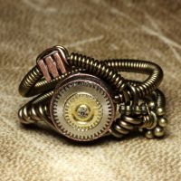 Steampunk Ring with gears by CatherinetteRings