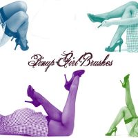 Pin-up Girl Photoshop Brushes by youstolemysoul2