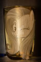 Fluttershy head engraving (detailed hair) by rtry