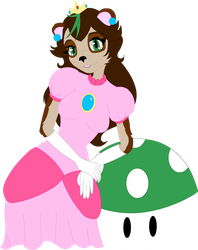 Art Gift:  Tako as Peach by Stolen-Dreamer
