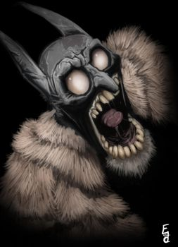 The Mad Bat by EdwardDelandreArt