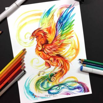Rainbow Phoenix by Lucky978