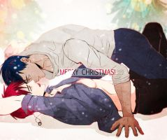 [AoKaga] Merry Christmas! by applelovesjelly