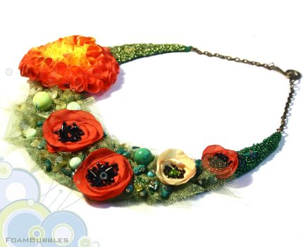 Missing Sumer- Statement Necklace by FoamBubbles