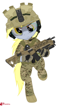 Combat Derpy Hooves by orang111