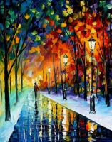 Frozen night by Leonid Afremov by Leonidafremov