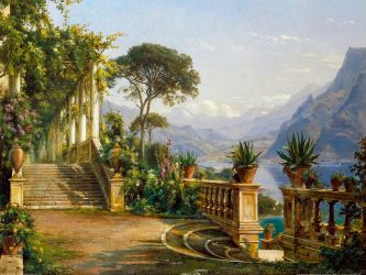 1280px-Aagaard, Carl Frederic - Lodge on Lake Como by thebrushstroke