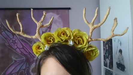 Deer horns with roses by Anonymous---Lucifer