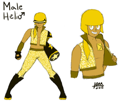 Gemsona - Male Helio by PinkCapPanda