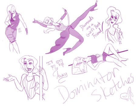 Dominator Moulin Rouge Sketches by GodsGirlRachel