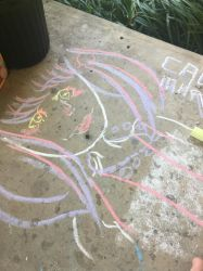 Chalk commission - Gallerica by Caomha
