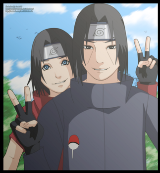 Itachi and Hayase Uchiha Father and Son by Sarah927Artworks