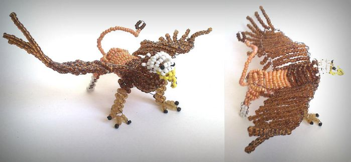 Griffin. bead by Romashik-arts