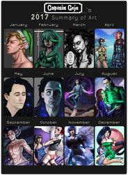 2017 Summary of Art by CaptainCeja
