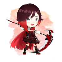 RWBY Ruby Rose Chibi by ComaKid21