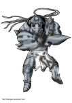 Alphonse Elric Kingdom Hearts JR by DrPingas