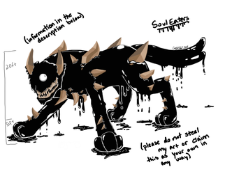UNDERTALE: Soul Eaters concept art by nightshade145